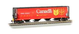 73801 HO Scale Bachmann Cylindrical 4-Bay Grain Hopper w/FRED-Government of Canada CPWX 606835