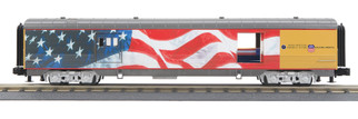 30-68127 O Scale MTH RailKing 60' Streamlined Baggage Car-Union Pacific(Flag) No.5769