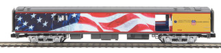 20-64089 O Scale MTH Premier 70' Streamlined Baggage Car(Smooth)-Union Pacific(Flag) #5769