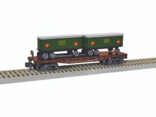 6-47985 S Scale American Flyer Piggyback Flatcar w/Trailers-Railway Express Agency