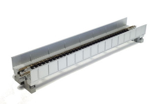 20-453 N Scale KATO Single Track Plate Girder Bridge-196mm Silver