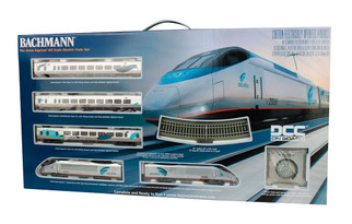 01205 HO Scale Bachmann Amtrak Acela Express Train Set