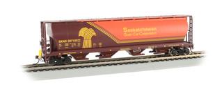 73802 HO Scale Bachmann Saskatchewan Cylindrical Grain Hopper w/FRED