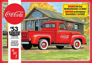AMT1144 AMT '53 Ford F-100 Pickup Truck Coca-Cola 1/25 Scale Plastic Model Kit