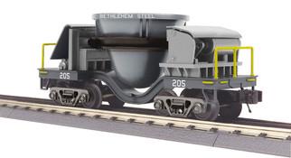 30-79595 O Scale MTH RailKing Slag Car-Bethlehem Steel(Dark Gray)