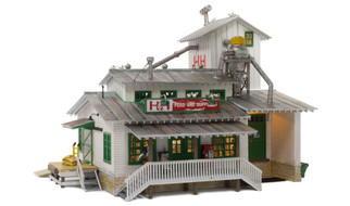 BR5059 HO Scale Woodland Scenics H&H Feed Mill Built Up