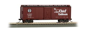 16501 HO Scale Bachmann 40' Santa Fe Map Boxcar-Super Chief