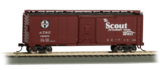 16502 HO Scale Bachmann 40' Santa Fe Map Box Car-Scout