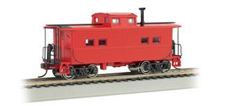 16806 HO Scale Bachmann NE Steel Caboose-Unlettered/Red