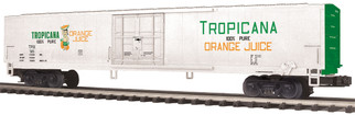 20-94431 O Scale MTH Premier 60' Reefer Car-Tropicana(Orange Juice-White)