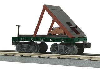 30-76760 O Scale MTH RailKing Flat Car(19th Century) w/Cannon-USMRR