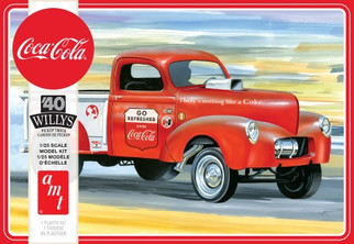 AMT1145 AMT 40 Willy's Pick-Up Coca-Cola 1/25 Scale Plastic Model Kit