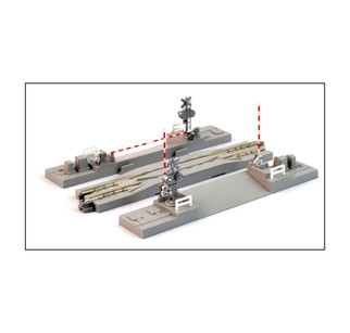 20-027-1 N Scale KATO Crossing Gate & Rerailing Track