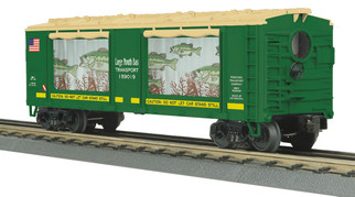 30-79599 O Scale MTH RailKing Operating Action Car-Large Mouth Bass Car No. 189019
