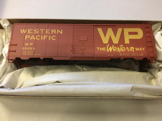 35169 HO Scale Accurail 40' Steel AAR Boxcar Kit-Western Pacific