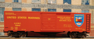96463 O Scale Ready Made Trains Marines Boxcar