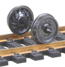 "521K HO Scale Kadee Code 110 36"" Ribbed Back Freight & Passenger Metal Wheels"
