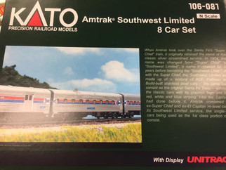 106-081 N Scale KATO Amtrak Southwest Limited 8 Car Set