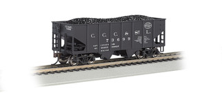 19510 HO Scale Bachmann 55-Ton 2-Bay USRA Outside Braced Hopper Car w/Coal Load-NYC (Big Four)