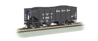 19511 HO Scale Bachmann 55-Ton 2-Bay USRA Outside Braced Hopper Car w/Coal Load-Nickel Plate Road