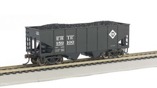 19508 HO Scale Bachmann 55-Ton 2-Bay USRA Outside Braced Hopper Car w/Coal Load-Erie #159100