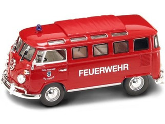 43211 O Scale Yat Ming 1962 Volkswagen Microbus Fire