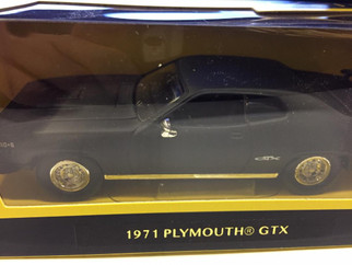 94218MB O Scale Yat Ming 1971 Plymouth GTX-Matte Black 1/43 Scale Die-Cast