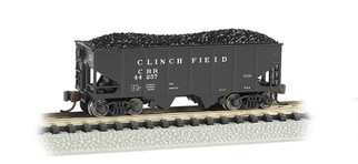 19554 N Scale Bachmann USRA 55-Ton 2-Bay Hopper W/Load-Clinchfield