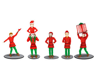 6-83185 O Scale Lionel The Polar Express Elves Figure Pack