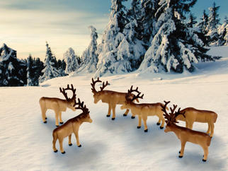 6-24251 O Scale Lionel The Polar Express Caribou Animal Pack