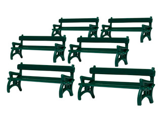 1930180 O Scale Lionel Benches 6-Pack