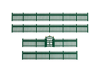1930170 O Scale Lionel Green Iron Fence
