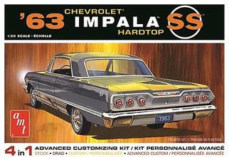 AMT1149 AMT '63 Chevrolet Impala Hardtop SS 1/25 Scale Plastic Model KIt