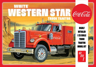 AMT1160 AMT Coca Cola White Western Star Truck Tractor 1/25 Scale Plastic Model Kit