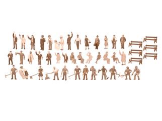 1967100 HO Scale Lionel Unpainted Figure Assortment