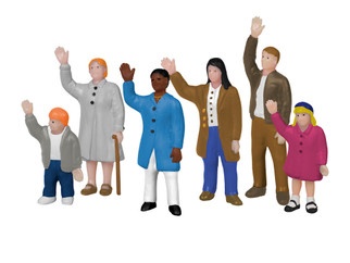 1957190 HO Scale Lionel People Waving Figure Pack