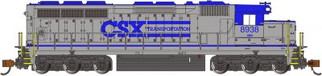 66457 N Scale Bachmann CSX Transportation #8938-SD45-DCC Sound Value Locomotive