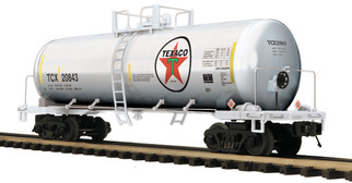 20-96289 O Scale MTH Premier Tank Car-Texaco(Stainless Plated)