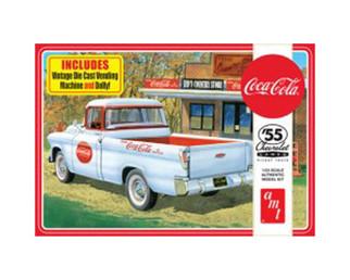 AMT1094 AMT '55  Chevrolet Cameo Pickup Truck Coca-Cola 1/25 Scale Plastic Model Kit