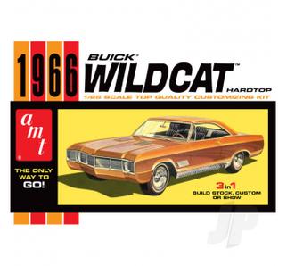 AMT1175 AMT 1966 Buick Wildcat Hardtop 1/25 Scale Plastic Model Kit