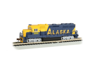 63569 N Scale Bachmann GP40 Locomotive-Alaska #3009