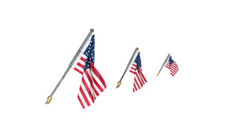 JP5953 N/HO/O Scale Woodland Scenics US Flag Wall Mount-Small