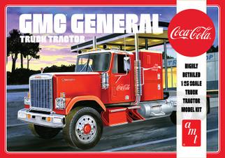 AMT1179 AMT Coca-Cola GMC General Semi Tractor 1/25 Scale Plastic Model KIt