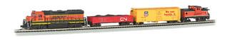 24132 N Scale Bachmann Roaring Rails Ready-To-Run Train Set-Digital Sound Set