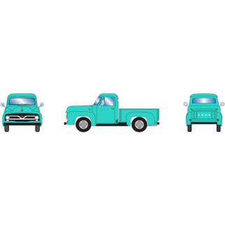 26444 HO Scale Athearn 1955 Ford F-100 Pickup-Jade
