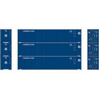 24553 HO Scale 45' Container-Horizon Lines/Cronos (3)