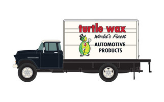 30570 HO Scale Classic Metal Works 1955 Chevy Reefer Box Truck-Turtle Wax