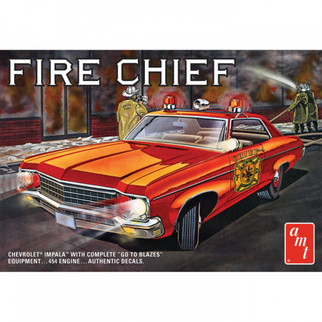 AMT1162 AMT 70 Chevy Impala Fire Chief 1/25 Scale Plastic Model Kit