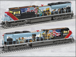 2033600 O Scale Lionel Union Pacific SD70ADH  Locomotive-Powered by Our People #1111