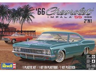 85-4497 Revell '66 Chevrolet Impala SS 396 2 'n 1 1/25 Scale Plastic Model Kit